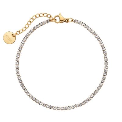 Kistanio Damen Armband Shining Brilliants Goldfarben KIS-BRA-SHIBR-GO