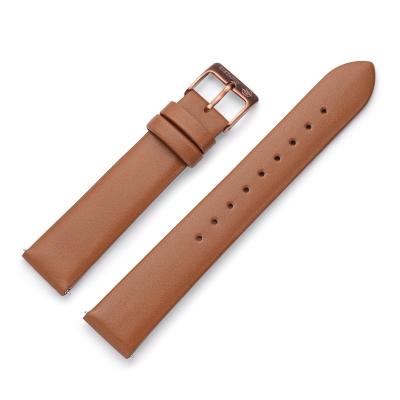 Kistanio 16 mm Uhrenarmband in Braun aus Echtleder mit Edelstahl Dornschließe LB-BRN-16-MO