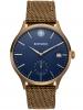 Kistanio Stratolis Herrenuhr mit Textilarmband Analog Saphirglas Khaki Blau Bronze STR-40-096