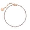 Kistanio Damen Armband Shining Brilliants Rosegoldfarben KIS-BRA-SHIBR-RG