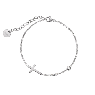 Armband Brilliant Cross Silberfarben