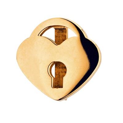 Kistanio Herzschloß Charm Goldfarben für Mesh Charmband