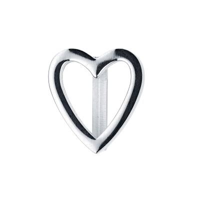 Kistanio Herz Charm Silberfarben für Mesh Charmband