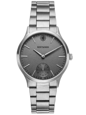 Kistanio Stratolia Damenuhr mit Edelstahlarmband Analog Saphirglas Edelstahl Grau STR-31-066