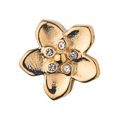 Kistanio Blume Charm Goldfarben für Mesh Charmband