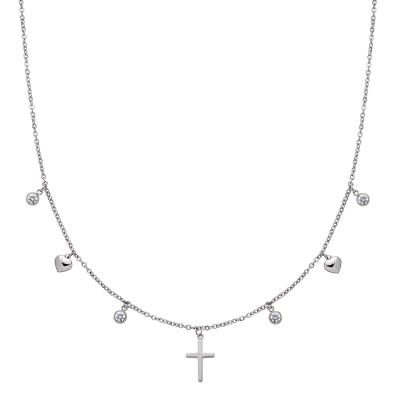 Damenkette Cross Pendant Choker