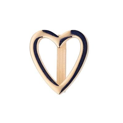 Kistanio Charm für Mesharmband - Herz Champagnerfarben