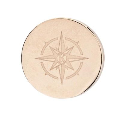 Kistanio Charm für Mesharmband - Kompass Khakifarben