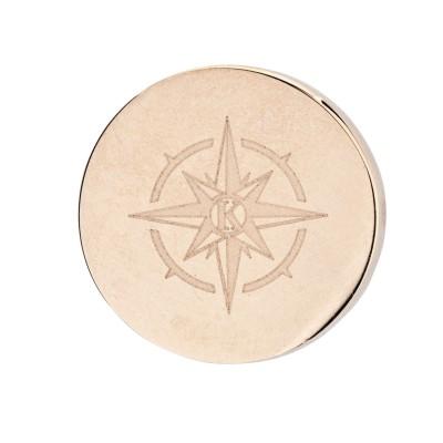 Kistanio Kompass Charm Khakifarben für Mesh Charmband