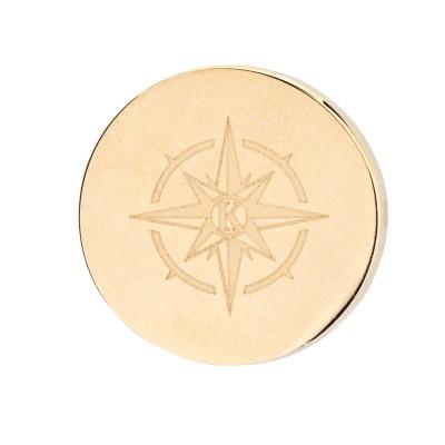 Kistanio Kompass Charm Champagnerfarben für Mesh Charmband