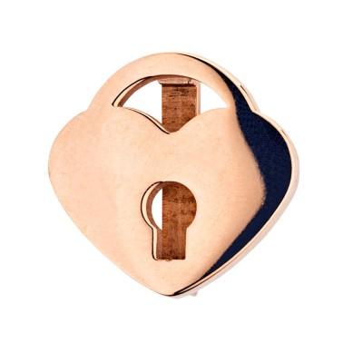 Kistanio Charm für Mesharmband - Herzschloß Rosegoldfarben