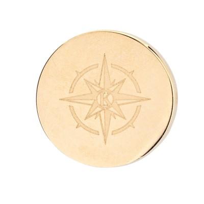 Kistanio Charm für Mesharmband - Kompass Champagnerfarben