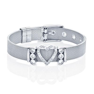 Kistanio Mesh Charm Armband Set inkl. 3 Charms Silberfarben