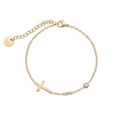 Armband Brilliant Cross Vergoldet