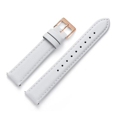 16 mm Uhrenarmband Leder Weiß RG